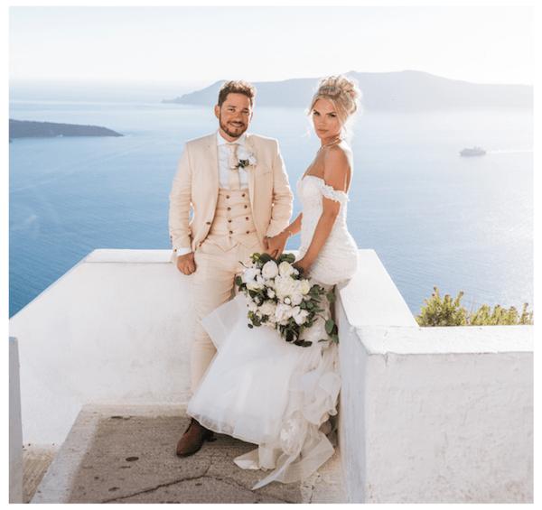 Heavens to Betsy Bridal, Dreamy in Santorini