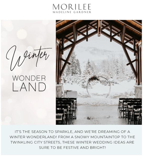 Heavens to Betsy Morilee Winter Wonderland