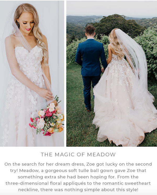 Morilee The Magic of Meadow by Heavens to Betsy Bridal
